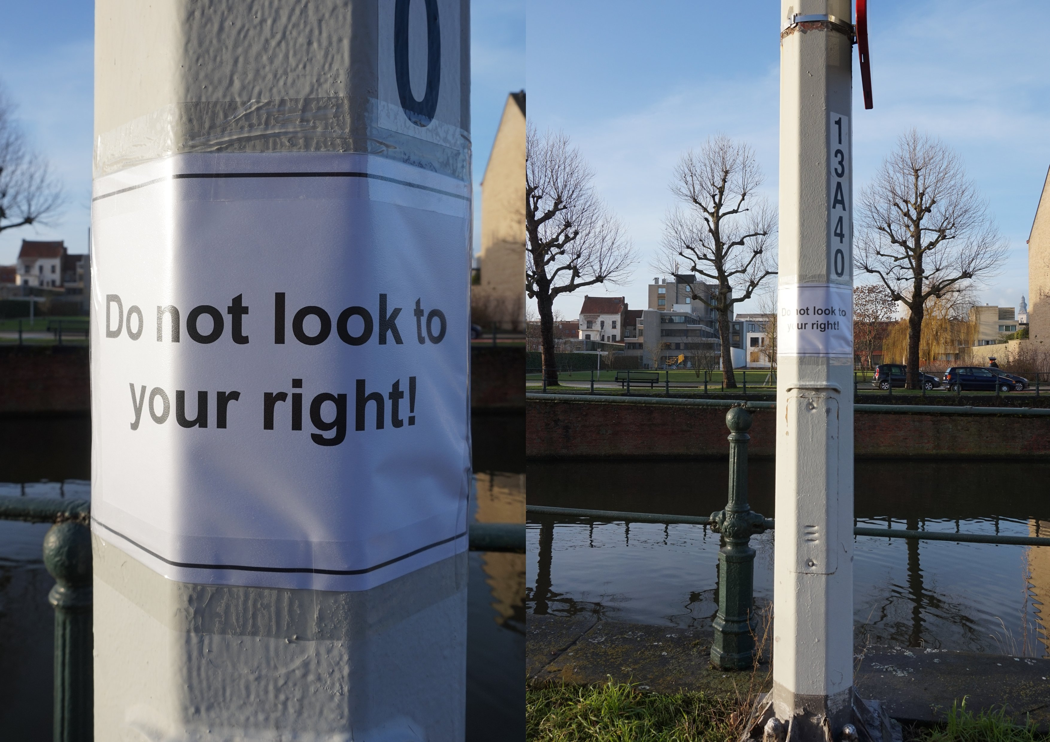Do not look to your right!